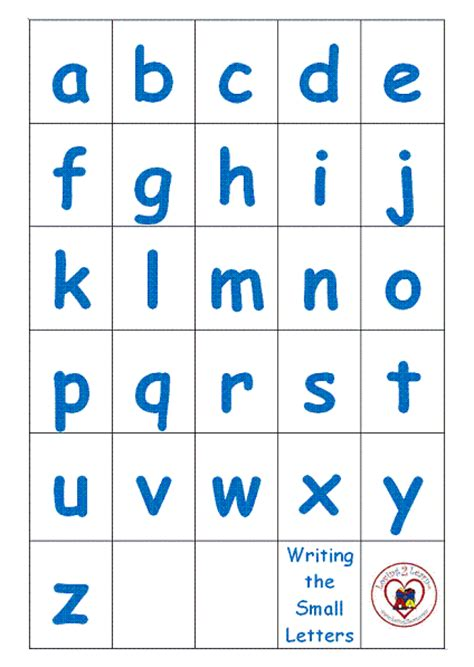 I Can Print In Small Letters And I Like To See The Writing The Small Letters Printable And