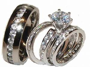 inspirational wedding rings set for him and her stainless With wedding rings sets for him and her