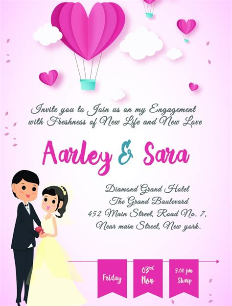 Engagement Party Invitation 11+ Design Template Sample