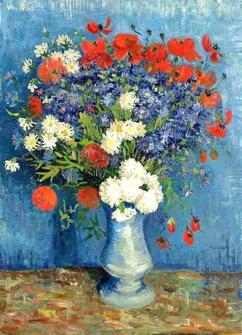 Vase With Poppies Vincent Gogh by Happy Catholic Worth A Thousand Words Vase With