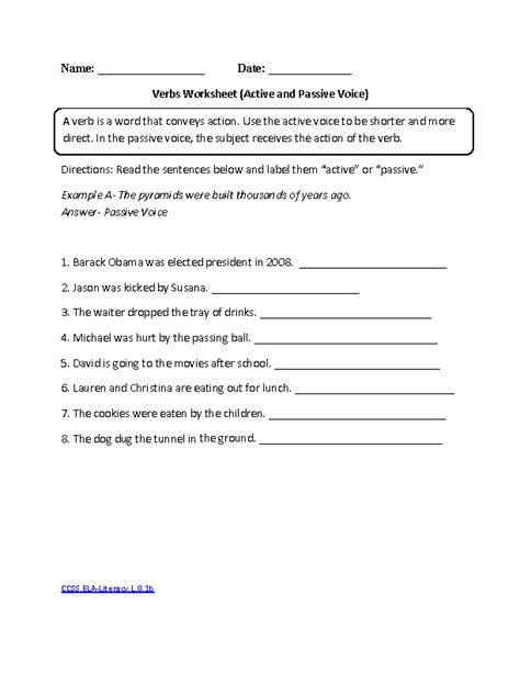 8th Grade Common Core  Language Worksheets