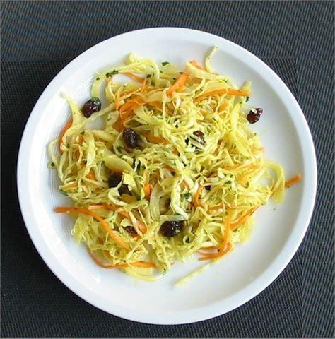 cuisiner le chou blanc en salade salade de chou blanc a l 39 indienne hepirite cuisine