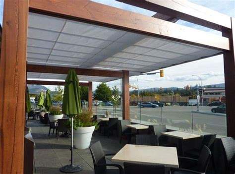 Cantilever Retractable Canopies At Ora Restaurant In