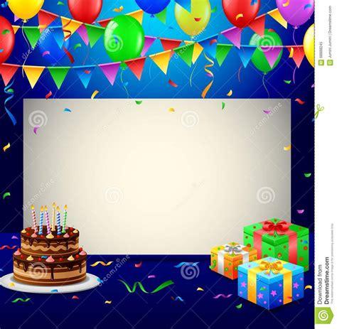 happy birthday background stock vector illustration