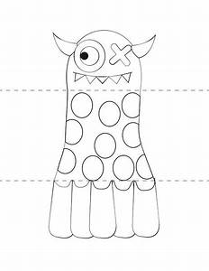 Printable make your own monster craft from print cut paste for Mosnter template
