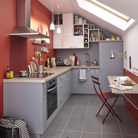 cuisines grises meuble de cuisine gris delinia délice leroy merlin