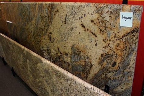 Brazil Jaguar Golden Granite Kitchen Prefab Countertops