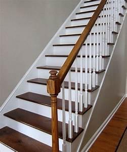 comment peindre rapidement un escalier en bois With peindre rampe escalier bois 0 comment repeindre facilement un escalier en bois