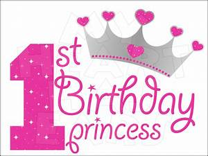 1st Birthday Princess INSTANT DOWNLOAD digital clip art ...
