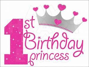 1st Birthday Princess INSTANT DOWNLOAD digital clip art ...