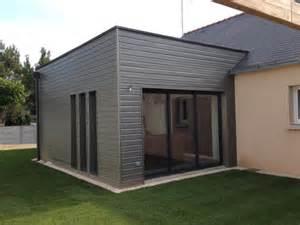 extension maison moderne 7 extension ossature bois moderne bardage peint sivalbp gris