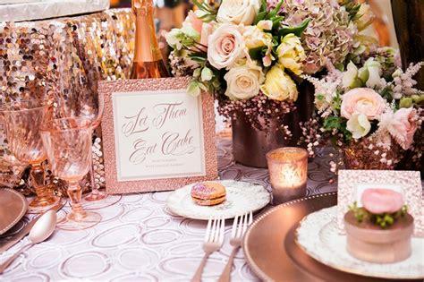 decoration de table rose gold