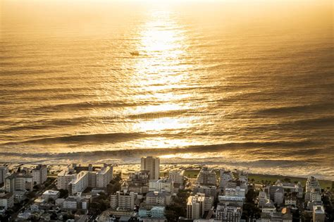 sunrise   city  cape town south africa stock