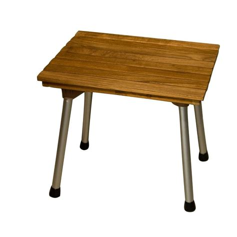 30 in teak folding shower bench iss137 30 the home depot