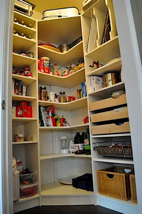 Kitchen Organization Calgary by Organization Corner Pantry For The Basement More Ideas