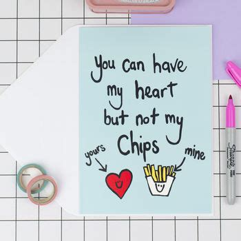 'heart But Not Chips' Funny Valentines Card By Peas In A ...