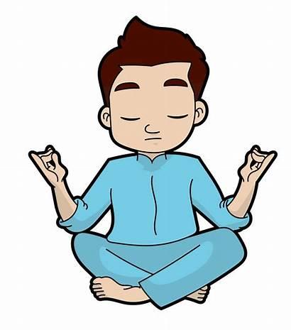 Yoga Cartoon Clipart Meditation Expert Woman Animation