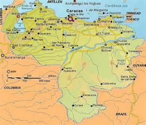Venezuela Map Cities