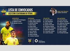 Eliminatorias La lista de convocados de Ecuador para los