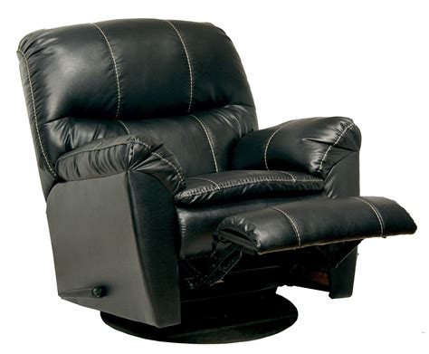 leather swivel recliner cosmo black leather swivel glider recliner from catnapper