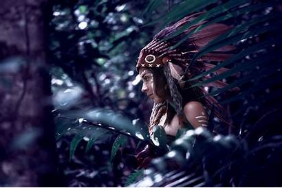 Native American 4k Woman Feather Background Wallpapers