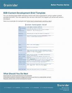 brief template and sample b2b content development With marketing research brief template