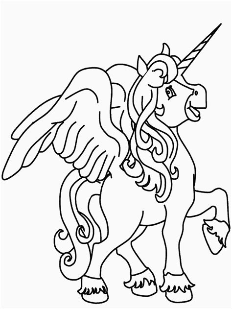 printable unicorn coloring pages  kids coloring home