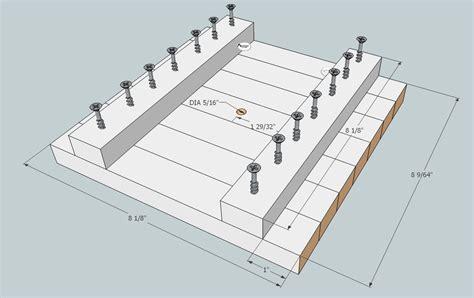 Hockey Stick Bench Frame Plans