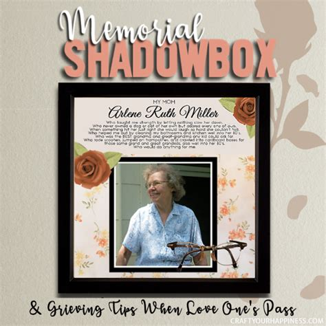 create  memorial shadow box grieving   pass