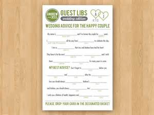 diy printable wedding mad libs guestbook colors customizable