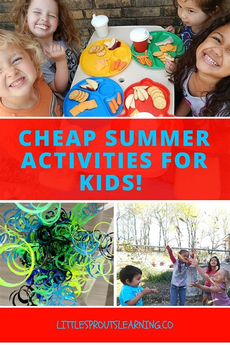 Cheap Summer Activities For Kids  Little Sprouts Learning