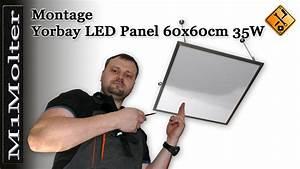 Led Deckenleuchte Einbau : einbau yorbay led panel 60x60cm 35w deckenleuchte pendelleuchte youtube ~ Buech-reservation.com Haus und Dekorationen