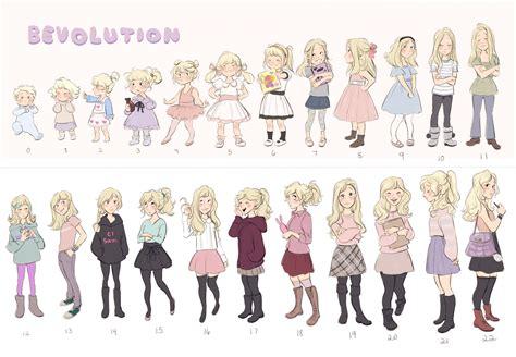 manga character drawing girl evolution character design