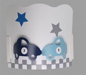 Applique chambre garon auto gris bleu Fabrique Casse Noisette
