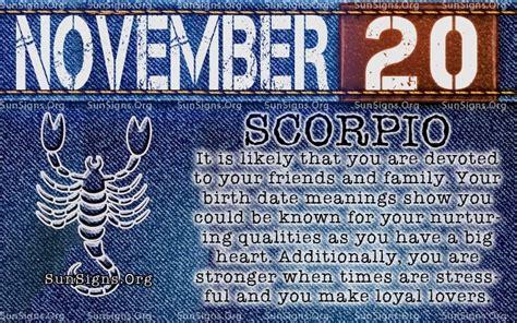 november  zodiac horoscope birthday personality sunsignsorg