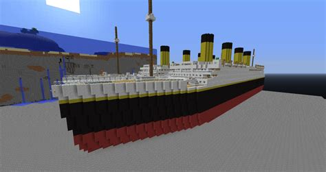 Minecraft Boat Titanic by Rms Titanic Minecraft Project