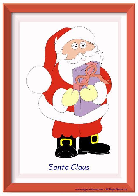 christmas esl printable english flash cards worksheets