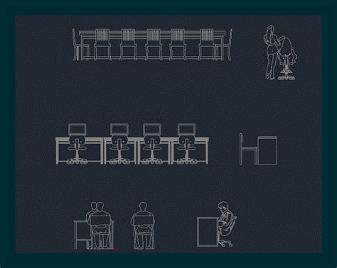 office furniture  dwg elevation  autocad designs cad