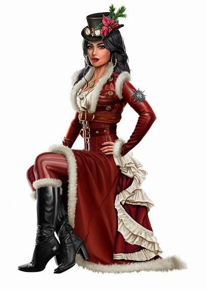 Steampunk Victorian Lady Clip Dresses Uploaded Atkinson