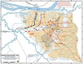 Shiloh Battle Location Map