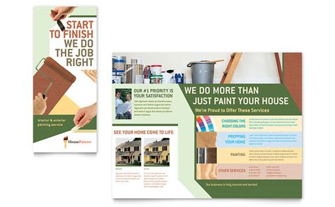 Buying an insurance policy can seem overwhelming. Painter & Painting Contractor Brochure Template - Word & Publisher