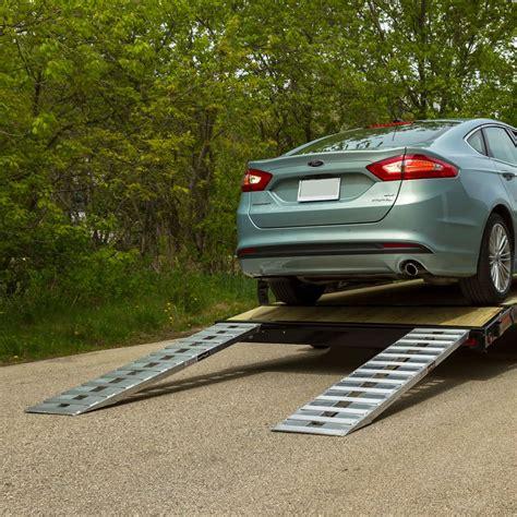 Aluminum Hybrid, Hook & Plate End Car Trailer Ramps