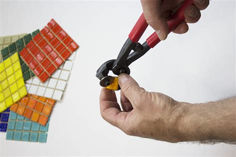 cutting mosaic tile how to cut triangles from vitreous glass tile how to mosaic