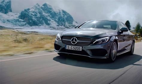mercedes ads sin of speed mercedes benz c class coupe pushed to the