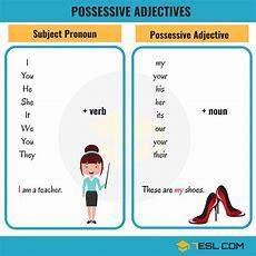 Possessive Adjectives & Subject Pronouns In English  7 E S L