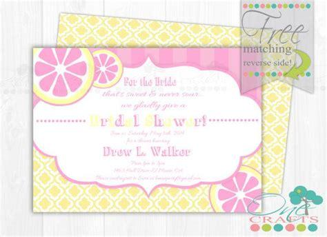 pink lemonade invitation baby bridal shower invite diy