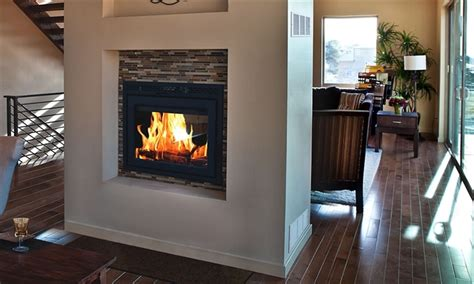 sided fireplace insert fireplaceinsert supreme sided fireplace