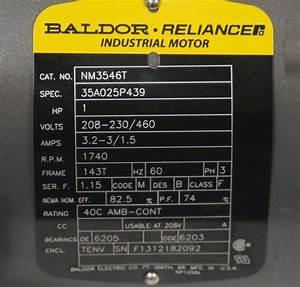 Baldor Motor Specs