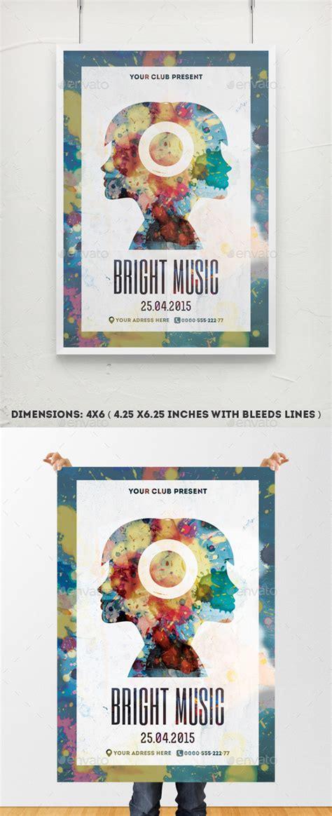 bright  poster template  djjeep graphicriver