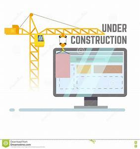 Building Under Construction Web Site Vector Background ...